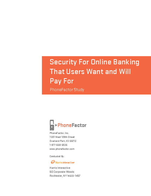 Security For Online Banking That Users Want and Will Pay For