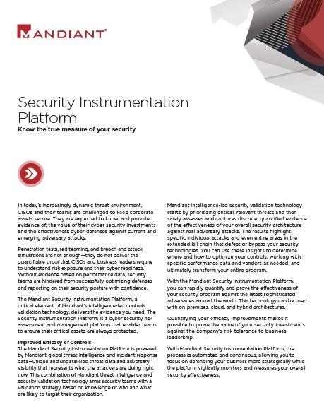 Security Instrumentation Platform: Know the true measure of your security
