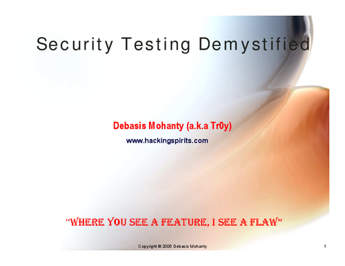 Security Testing Demystified