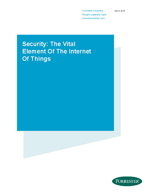 Security: The Vital Element of The Internet Of Things
