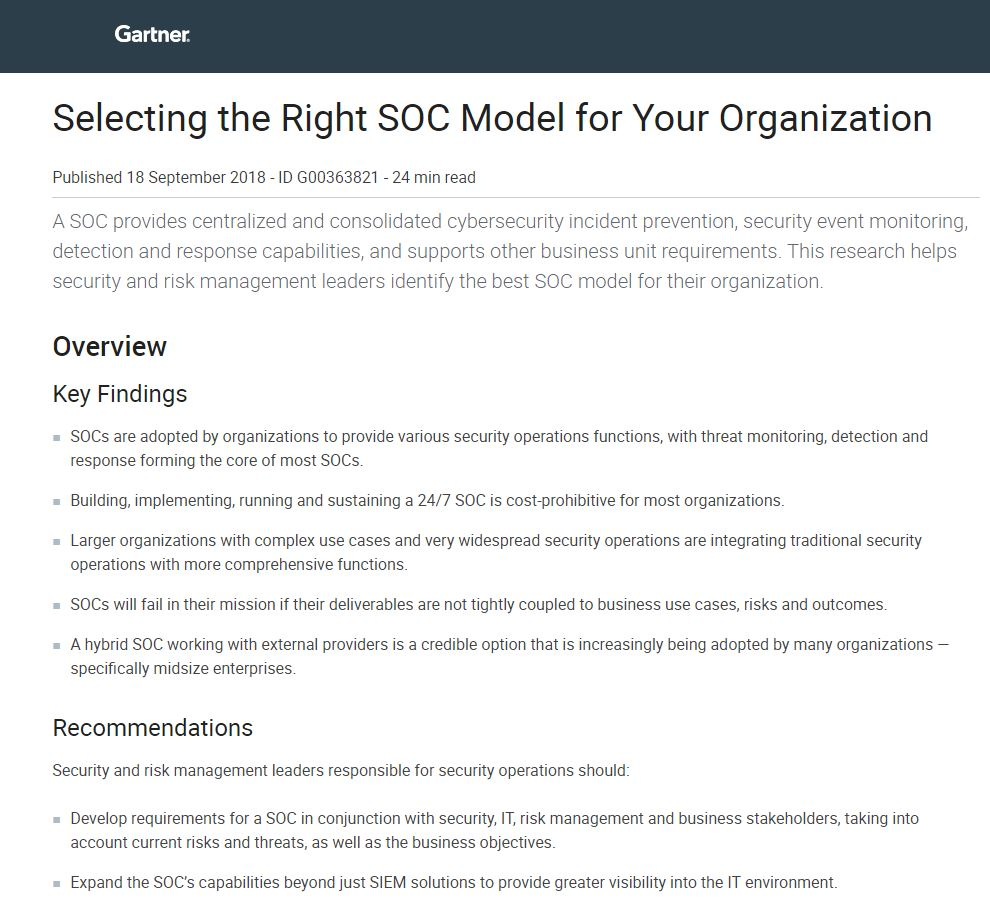 Selecting the Right SOC Model For Your Organization