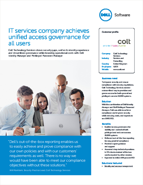 IT Services Company Achieves Unified Access Governance For All Users