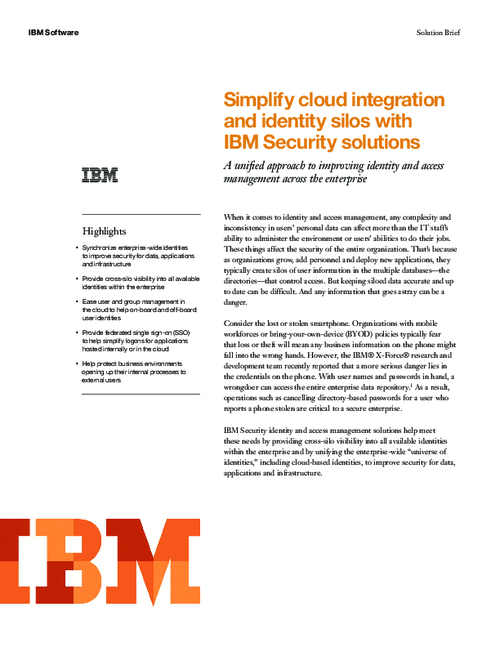 Simplifying Cloud Integration and Identity Silos