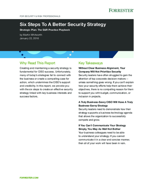 Six Steps to a Better Security Strategy