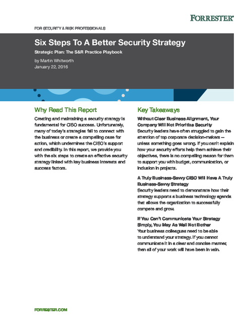 Six Steps to Keep Your Security Strategy Relevant and Aligned with Business Goals