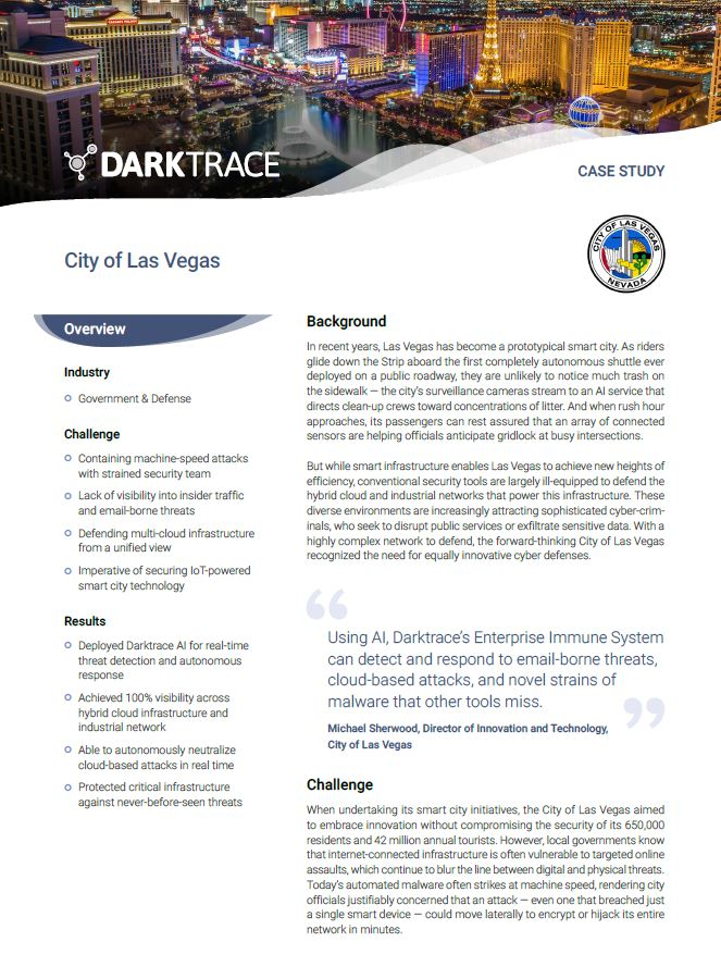 Defending IoT-Powered Smart Cities: Las Vegas Case Study