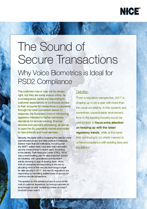 The Sound of Secure Transactions: Voice Biometrics and PSD2 Compliance