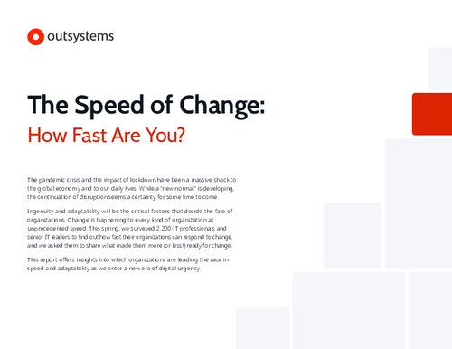 The Speed Of Change: How Fast is Your IT?
