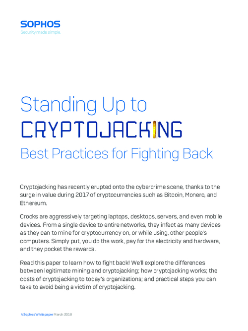 Standing Up to Cryptojacking: Best Practices for Fighting Back