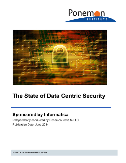 Ponemon Institute Survey Report: Top Enterprise Threats to Data Security