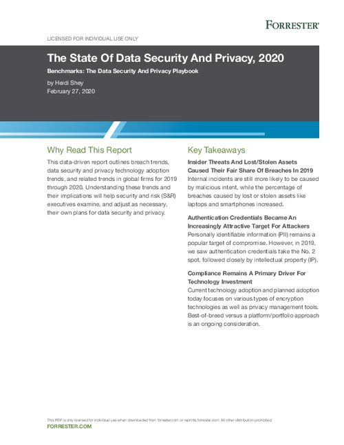 The State Of Data Security And Privacy, 2020