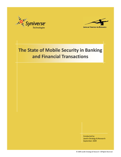 The State of Mobile Security in Banking & Financial Transactions