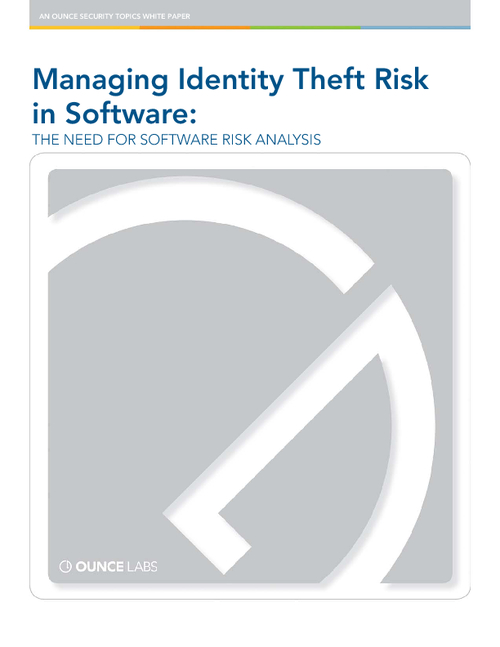 Stop Identity Theft at the Source: Build Security In