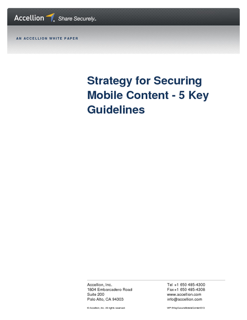 Strategy for Securing Mobile Content: 5 Key Guidelines