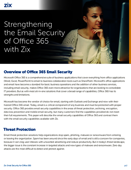 Threat Protection and Data Loss Prevention: Strengthening Office 365 Email Security