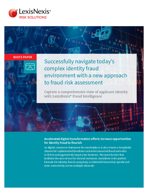 Successfully Navigate Today's Complex Identity Fraud Environment