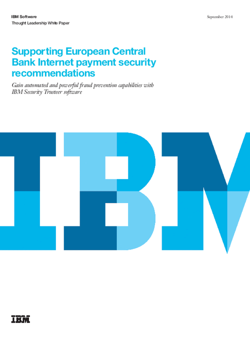 Supporting European Central Bank Internet Payment Security Recommendations