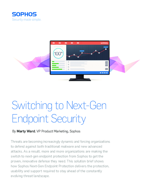 Switching to Sophos Next-Gen Endpoint Security
