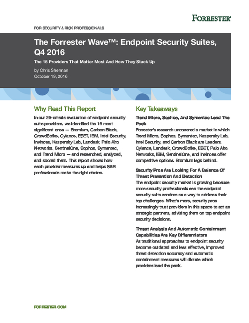 Top 15 Endpoint Security Suite Providers of 2017 And How They Stack Up