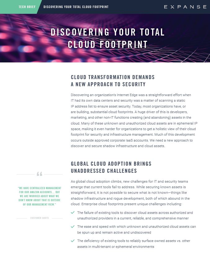 Tech Brief: Discovering Your Total Cloud Footprint