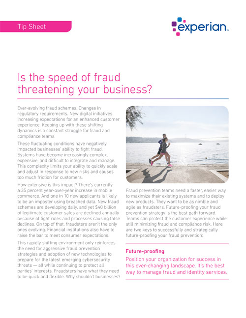 Is the speed of fraud threatening your business?