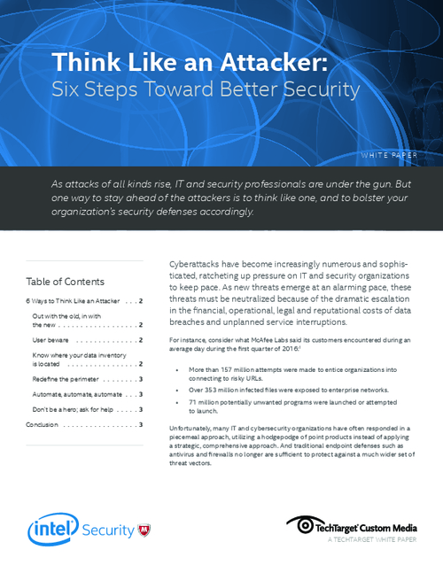 Think Like an Attacker: Six Steps Toward Better Security