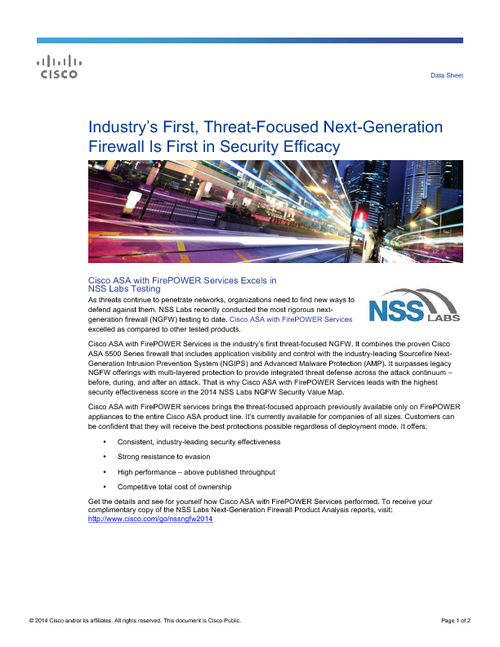 Threat-Focused Next-Generation Firewall