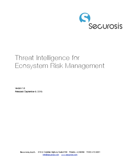 Threat Intelligence for Ecosystem Risk Management