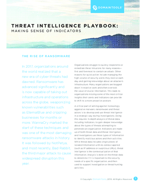 Threat Intelligence Playbook