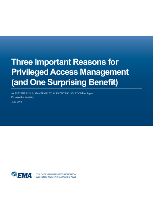 Three Important Reasons for Privileged Access Management