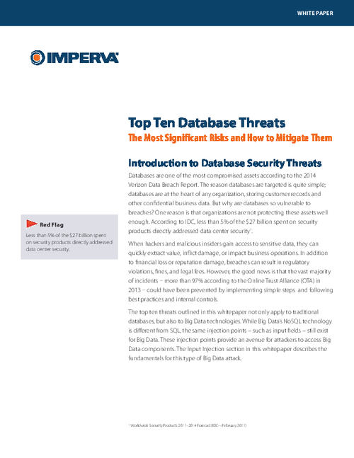 Top 10 Database Security Threats