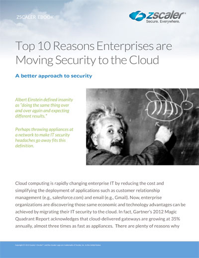 Top 10 Reasons Enterprises Are Moving Security to The Cloud