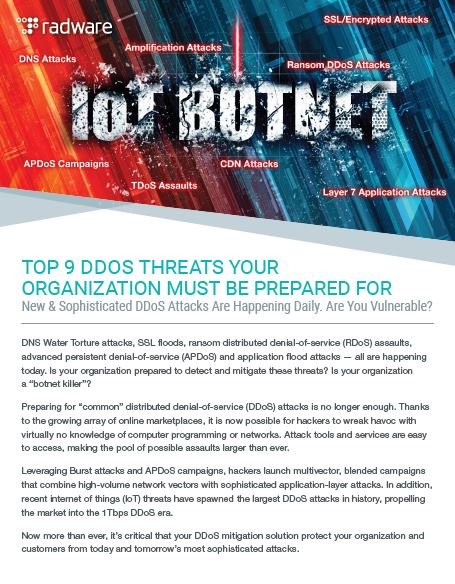 The Top 9 DDoS Threats You Must be Prepared For