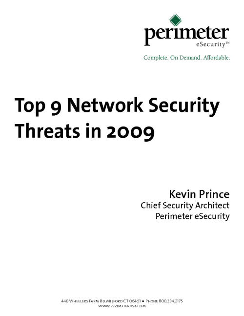 Top 9 Network Security Threats in 2009