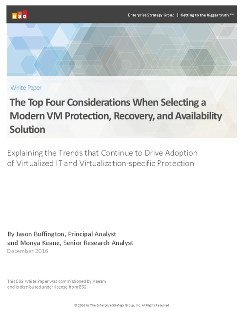 The Trends Driving Adoption of Virtualized IT and Virtualization-Specific Protection