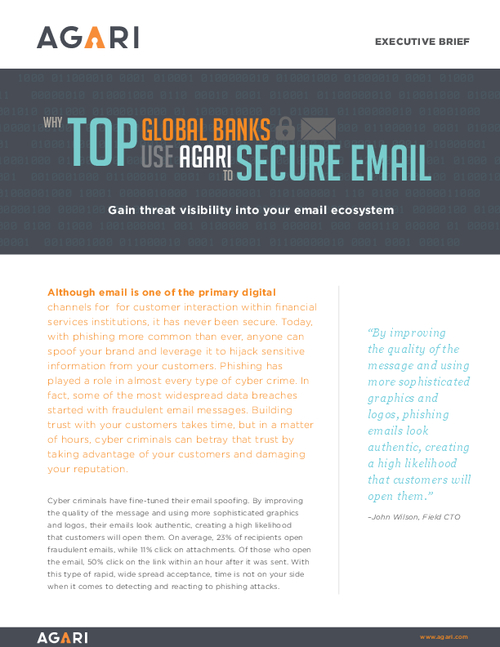 Why Top Global Banks Use Agari to Secure Email