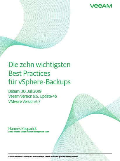 The Top Ten Best Practices for vSphere Backups (German Language)