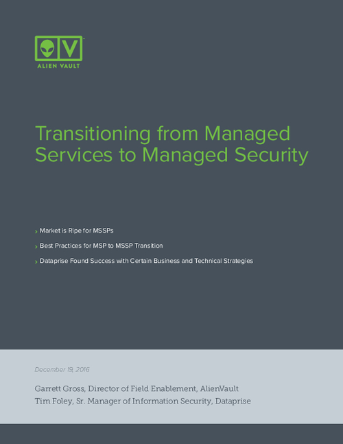 Transitioning from Managed Services to Managed Security