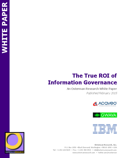 The True ROI of Information Governance