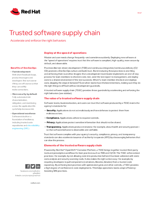 Trusted Software Supply Chain