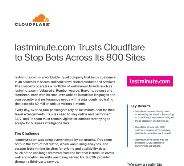 Standing Up to Bot Attacks: How Lastminute.com Fought Back