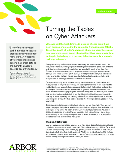 Turning the Table on Cyber Attackers