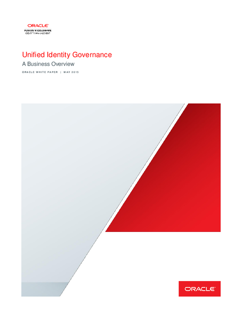 Unified Identity Governance