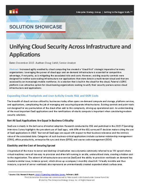 Unifying Cloud Security Across Infrastructure and Applications