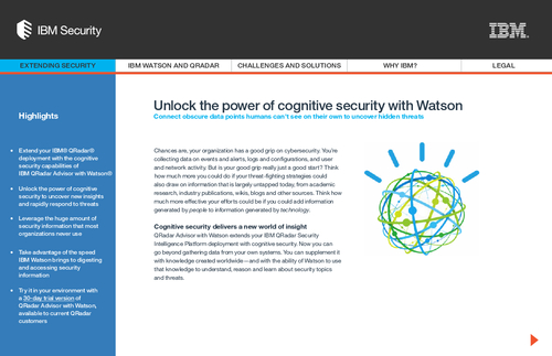 Unlock the power of cognitive security with Watson
