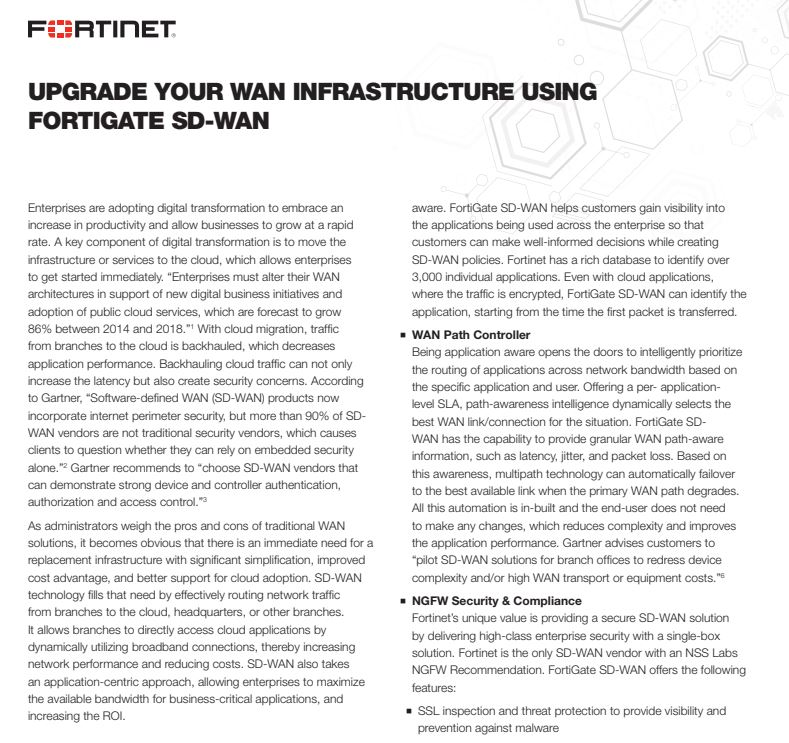 Upgrading Your WAN Infrastructure