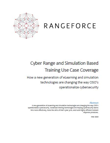 Use Case Coverage for Cyber Range and Simulation-Based Training
