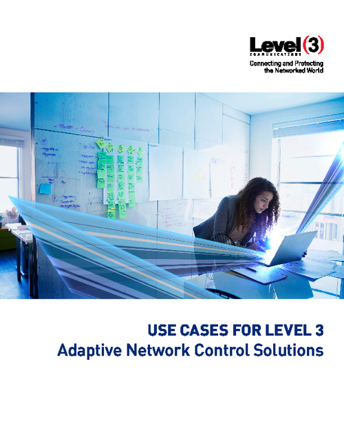 Use Cases: Adaptive Network Control Solutions