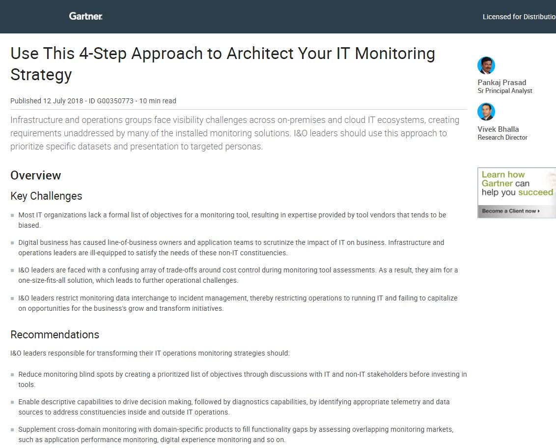 Use This 4-Step Approach to Architect Your IT Monitoring Strategy