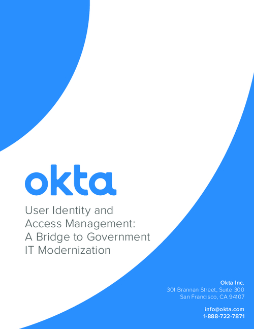 User Identity and Access Management: A Bridge to Government IT Modernization
